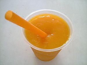 Mango juice, Cirebon, West Java, Indonesia 日本語...