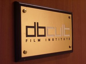 Nameplate DBCult Film Institute