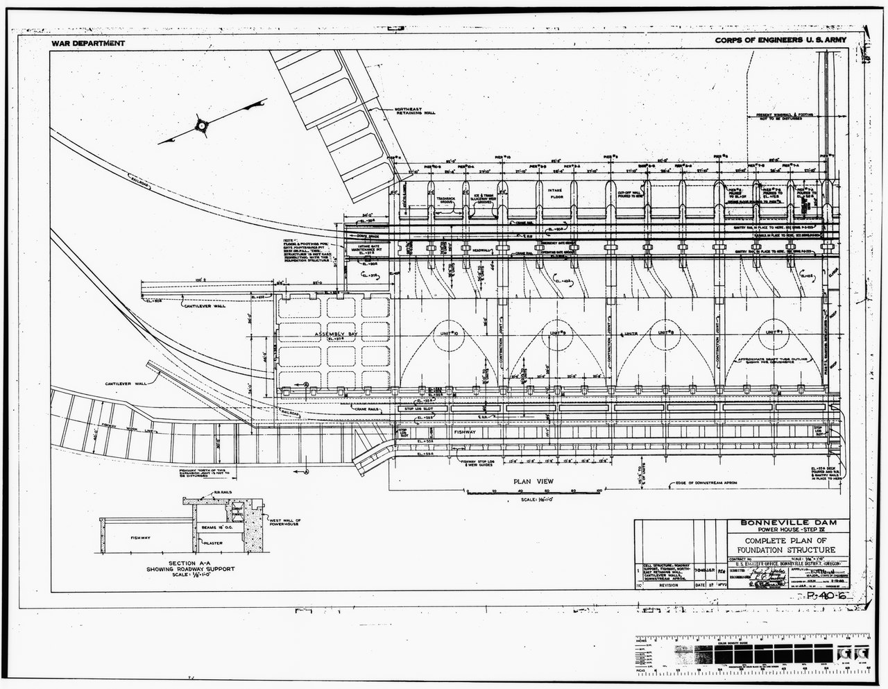 File Photocopy Of Original Construction Drawing Dated 19