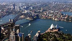 Kebanyakan penduduk Australia tinggal di kawasan kota; Sydney ialah kota terbesar di Australia. Tren menghadap perkotaan juga lebih kuat di Australia daripada tempat lain di dunia