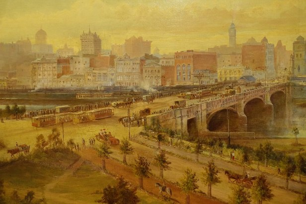 State Library of Victoria - Joy of Museums - Melbourne 1905 by Laurence William Wilson - closeup