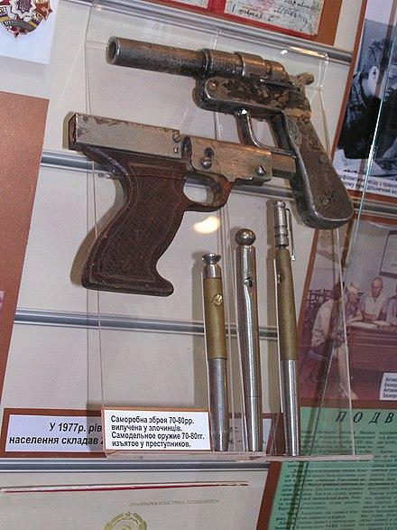 Homemade pen guns (Museum of the History of Donetsk militsiya).