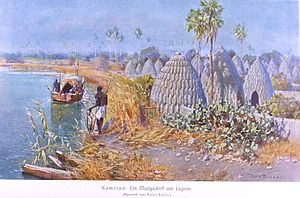 A village on a lake (Cameroon)