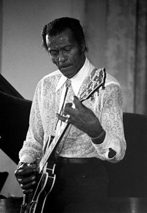 Français : Le chanteur américain Chuck Berry e...