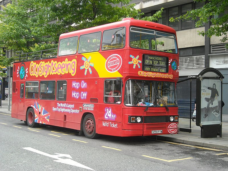 File:City Sightseeing bus in Manchester D258 FYM.jpg