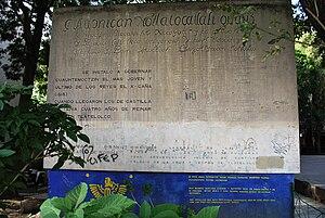 Monument ot Cuautemoc, last ruler of the Aztec...