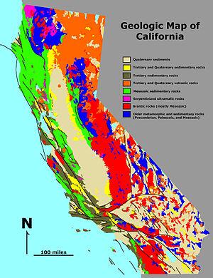 Geologic map California