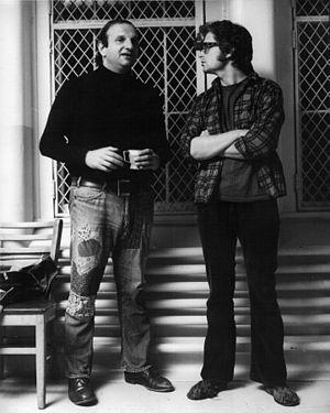 English: Bo Goldman (left) and Michael Douglas...