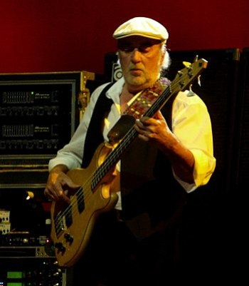 English: JOHN MCVIE With Fleetwood Mac on Marc...