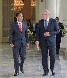Morrison with President Joko Widodo of Indonesia on his first overseas visit as prime minister. who is scott morrison