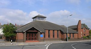English: Llanelli Roman Catholic Church This i...