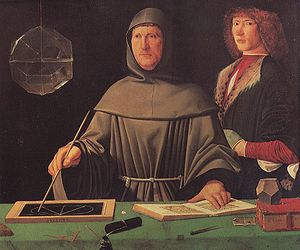Luca Pacioli, Jacopo de' Barbari, at about 1496