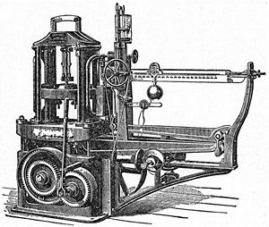 Drawing of a testing machine for analyzing str...