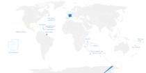 Vị trí của các Vùng lãnh thổ Hải ngoại của Pháp