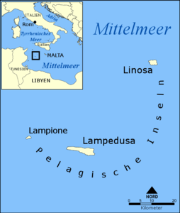 Lage von Lampedusa