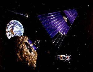 Solar power satellite built from an asteroid w...