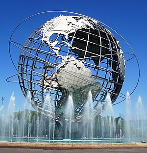 The Unisphere, built for the 1964 New York Wor...
