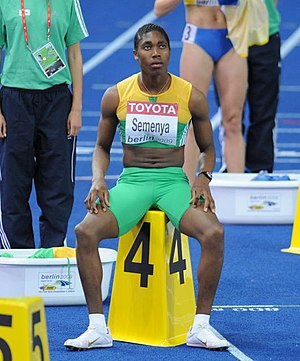 Caster Semenya during World Championships Athl...