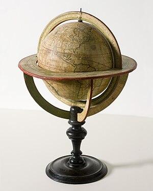 English: de l'Isle globe, 1765 A 1765 de l'Isl...