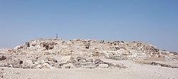 The ruined pyramid of Djedefra at Abu Roash