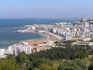 The coast of Algiers (Algeria), as seen from t...