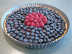English: A Blueberry tart