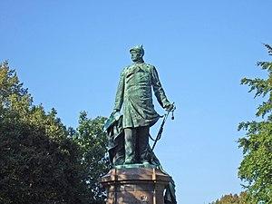 Deutsch: Bronzefigur Otto von Bismarcks