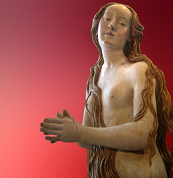 Mary Magdalene. Lime tree wood and polychromy,...