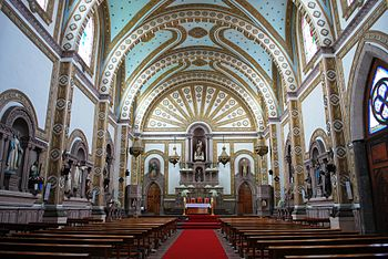 English: Inside the Chapitel del Calvario Chur...