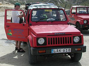 This photograph of a Maruti Gypsy vehicle was ...