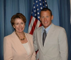Nancy Pelosi and Lance Armstrong