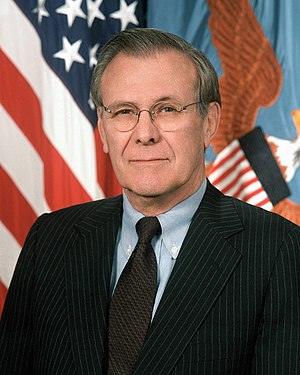 Donald Rumsfeld, Secretary of Defense of the U...