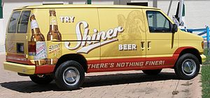 Detail of Shiner van