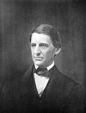 Engraved portrait of Ralph Waldo Emerson, U.S....