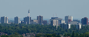 Birmingham Skyline from the west