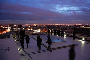 English: Círculo de Bellas Artes' flat roof, i...