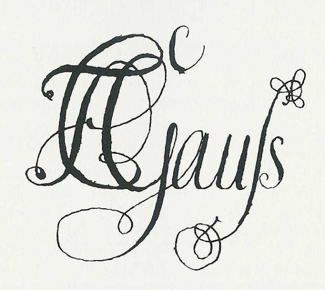 Name von Gauß geschrieben