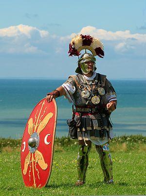 English: Centurion (Roman army) historical ree...