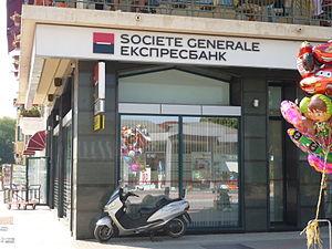 English: Expres Bank - Société générale retail...