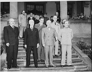 First meeting between Generalissimo Josef Stal...