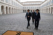 Giuseppe Conte at the Quirinal Palace, in May 2018