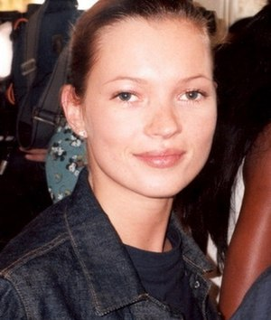English: British supermodel Kate Moss Portuguê...