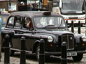 A typical London Taxi.
