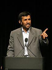 (Iranian president Mahmoud Ahmadinejad)