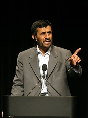 English: President of Iran @ Columbia University.
