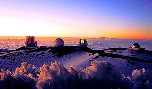 English: Telescopes of the Mauna Kea Observato...