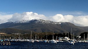 Mount Wellington from Lindisfarne, Hobart