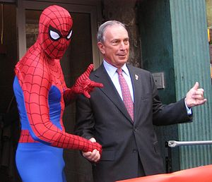 English: New York City Mayor Mike Bloomberg wi...