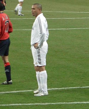 Ronaldo with Real Madrid.