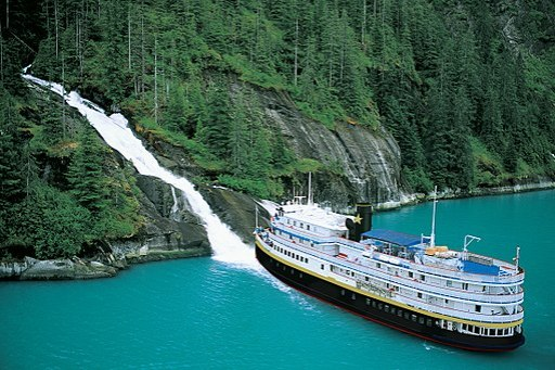 S.S. Legacy in SE Alaska (waterfall)